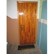 Отделка металлических дверей фото