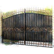 Ворота хозяйственные фото
