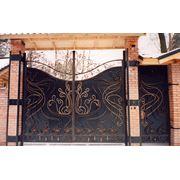 Ворота металлические гаражные фото