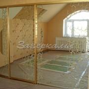 Двери для шкафов купе расцветки золота зеркальные фото