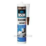 Силикон санитехнический темно-коричневый 280 мл. Bison Артикул 59.33 фото
