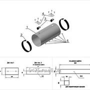 Комплект заделки стыка трубопровода с оцинкованной трубой-оболочкой с оцинкованной муфтой d=920мм, Dп=1075 мм фото