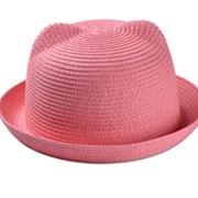 Летняя шляпка с ушками 1 фото