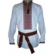 Вышитая сорочка мужская Косовская - ручная вышивка (00214) фото