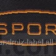 Этикетка для спортивной одежды под заказ мод 049/1037 фото