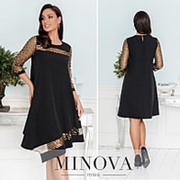 Нарядное платье женское асимметричное НВ/-40520/1 - Золото фото