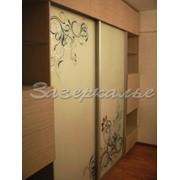 Двери для шкафов купе затемненные с узором фото