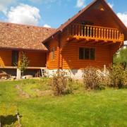 Изготовление деревянных домов работы под заказ фото
