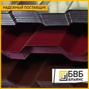 Лист профилированный металлошифер 0.75 МП40. 1.11х0.5-16 фото