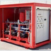 Насосная станция системы пожаротушения тонкоразпыленной водой высокого давления фото