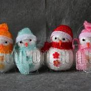 Снеговик пенопластовый 9 см 7037 фото
