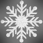 """Снежинка """"Резная"""", искристая, 30 см, белая (Зимняя Сказка) фото"""