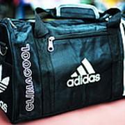 Спортивная дорожная сумка ADIDAS средняя 40х20х25см черная фото