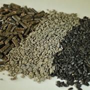 Шрот подсолнечный гранулированный. фото