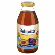Бебивита - нектар сливовый с витамином С, 4 мес., 200 мл фото