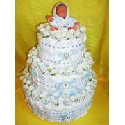 Торт из памперсов фото