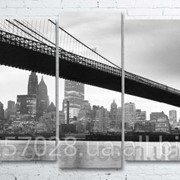 Модульна картина на полотні Міст код КМ100200(176)-019 фото