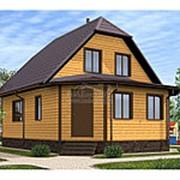 Дом из бруса 6.0 х 8.5 м (Проект Д-066-1 Сезонный) фото