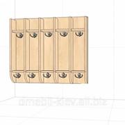 Вішалка для рушників 750х150х650 мм (5 місць) гачки зверху, планка і знизу фото