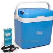 Холодильник автомобильный iSky, 32 л, пластиковый, с аккумулятором холода, iREF-32P фото