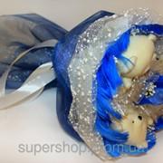 Букет из мишек Синий Иней 185-18410626 фото