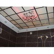 Стеклянные подвесные потолки фото