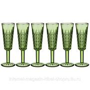 Набор бокалов для шампанского графика 6шт. Серия muza color 150 мл высота 20cм фото
