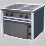 Плита электрическая 4-х конфорочная с духовкой фото
