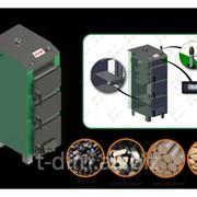 Котел твердотопливный Palche 55 кВт с зворушувачем и терморегулятором фото