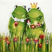 Салфетка для декупажа Счастливые лягушки фото