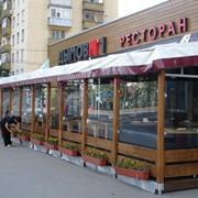 Заказать тентовые конструкции в Минске, Летнее кафе с индивидуальным дизайном фото