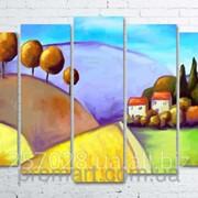 Модульна картина на полотні Кольоровий пейзаж код КМ100150(132)-028 фото