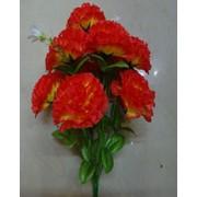 Цветок искусственный 12 цветков гвоздики Арт. 055-3 фото