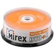 Оптический диск DVD плюс R 4.7 Гб Mirex в тубе 25шт. фото