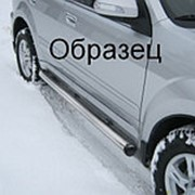 Пороги Mitsubishi Pajero Sport 2010-2012 (вариант 2 труба 76 мм) фото