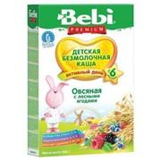 Бэби каша без молока овсянка лесная ягода (с 6 мес) 200г фото