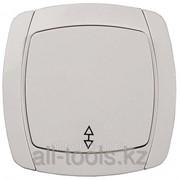 Выключатель Светозар City Light проходной одноклавишный в сборе, бежевый, 10А/~250В Код:SV-54237-B фото