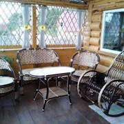 Плетёный мебельный гарнитур из 4 предметов фото