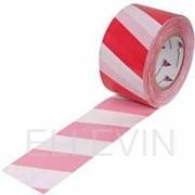 Лента оградительная 75х250 (красно-белая) фото