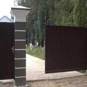 Ворота въездные откатные фото
