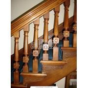 Перила, поручни деревянные фото