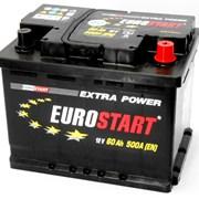 Аккумулятор автомобильный EUROSTART 60 (R +) фото
