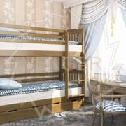Кровать деревянная. Ева фото