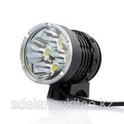 Светодиодный фонарь на велосипед- 4 х Cree XM-L T6, 2800 люмен, белый свет фото