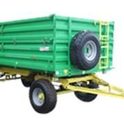 Прицеп тракторный самосвальный 2ПТС-6,5 (с надставными бортами, запасным колесом, торм. на 2 оси) фото