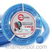 Шланг для воды 3-х слойный 3/4, 10м, армированный, PVC Intertool GE-4071 фото