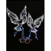 Картины с кристаллами Swarovski «Любовь и голуби» фото
