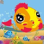 Картинка стразами Золотая рыбка 21х17 см фото