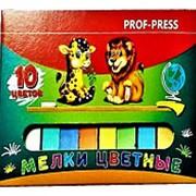 Мелок 534308 Profpress ШМ 3430 ( 10 цв./ уп. 10 шт.) цветной для рисования d=12 mm l=75 mm ( цена за 1 уп.) фото