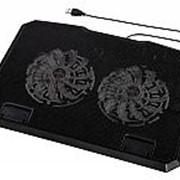 """Подставка для ноутбука Hama (00053065) 15.6""""370x270x30мм 23дБ 2x 140ммFAN 802г пластик черный фото"""